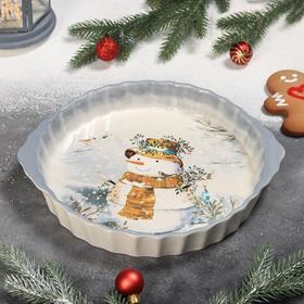 {{photo.Alt    photo.Description    'Блюдо для запекания Доляна «Рождественский снеговик», 28,8×25×4,3 см'}}
