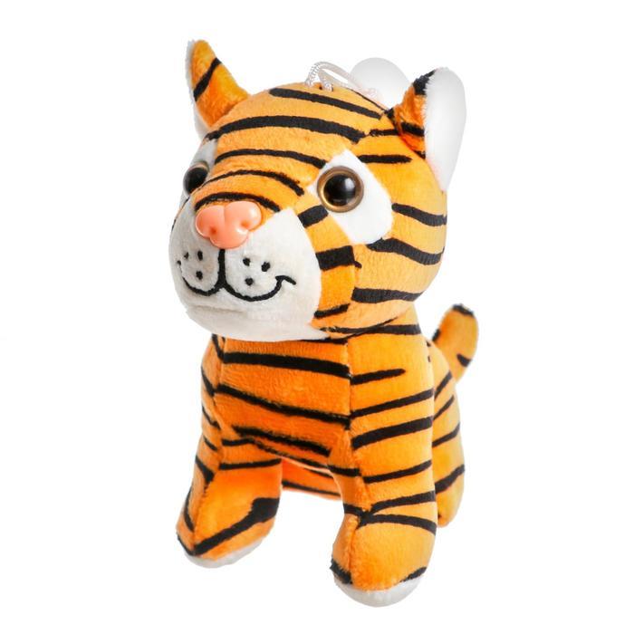 Мягкая игрушка «Тигрёнок», 16 см, на присоске, цвета МИКС