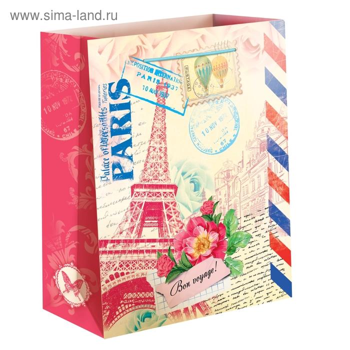 Пакет ламинат вертикальный «Париж», L 40 х 31 х 9 см
