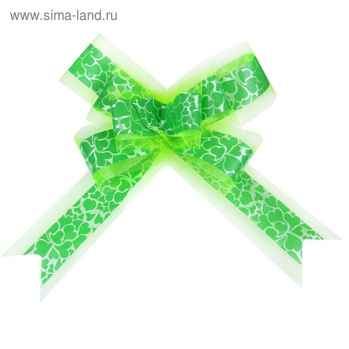 "Бант-бабочка №5 ""Сердца"", цвет зелёный"