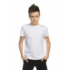 Футболка для мальчиков, рост 164 см, цвет белый