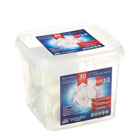 Экологичные таблетки для ПММ Techpoint, бесфосфатные, неполная загрузка, 30 шт.