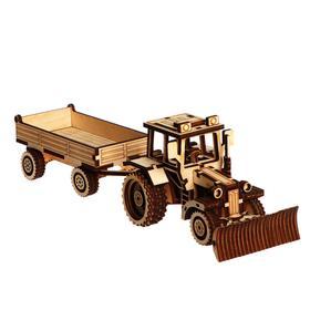 Cборная модель «Трактор с прицепом»