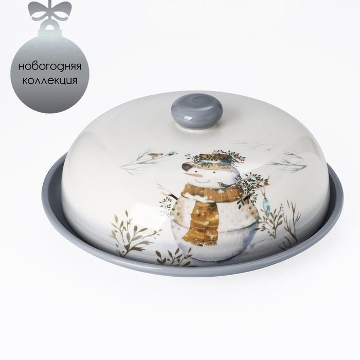 Блинница Доляна «Рождественский снеговик», 23×9,7 см