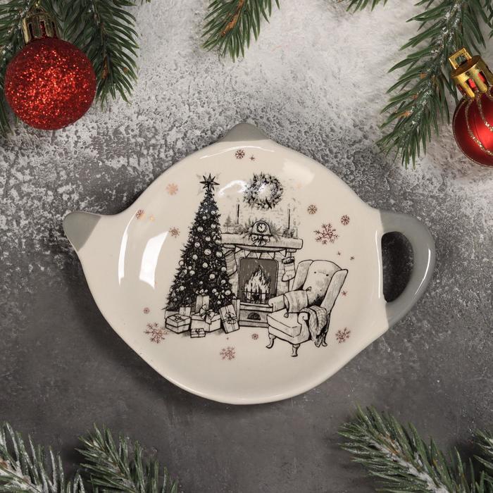 Подставка под чайный пакетик Доляна «Хюгге», 12×8,4×1,5 см