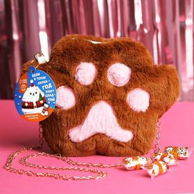 Подарочный набор «Год будет сладкий» конфеты (200 г.), сумка-лапка