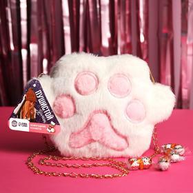 Подарочный набор «Пушистой зимы» конфеты (200 г.), сумка-лапка