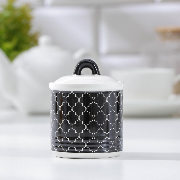 Сахарница «Марокко», 150 мл, цвет чёрный