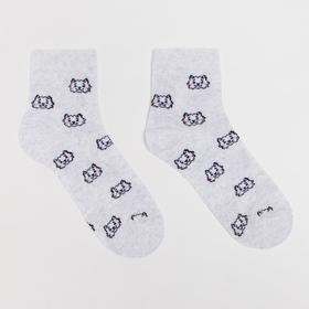 Носки детские «Барашки» цвет серый, размер 16-18