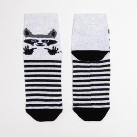 Носки детские «Енот» цвет серый, размер 16-18