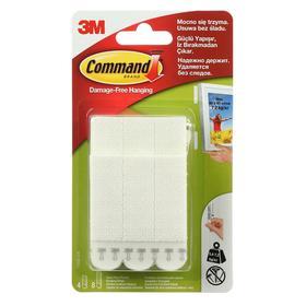 Застежки самоклеящиеся для картин, Command 17209 белые, средние и большие, 4+8 пар