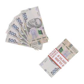 Пачка купюр 500 Украинских гривен
