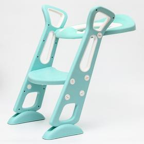 Детская накладка - сиденье на унитаз, цвет бирюзовый