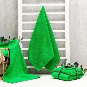Набор полотенец Этель (70*130см, 50*90 см, 30*30 см) цв. зеленое яблоко, 320 гр/м2