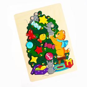 Двухуровневая мозаика «Новогодние хлопоты»36 деталей