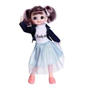 Кукла шарнирная «Ксюша» в платье, МИКС