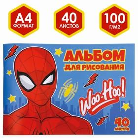 Альбом для рисования А4, 40 л., Человек-паук