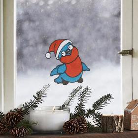 Наклейка на стекло «Снегирь», 10 х 10 см