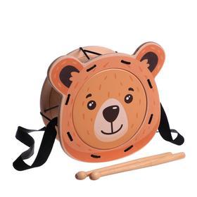 """Игрушка детская барабан """"Мишка""""  11335"""