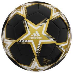 Мяч футбольный ADIDAS UCL Club P, размер 4, ТПУ, 12 панелей, машинная сшивка, цвет белый/чёрный/золотой