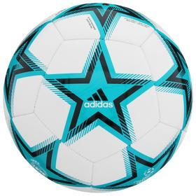 Мяч футбольный ADIDAS UCL RM Club Ps, размер 4, ТПУ, 12 панелей, машинная сшивка, цвет бирюзовый/белый/чёрный