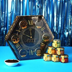 Подарочный набор «Золотого года»: чай с ванилью и карамелью 50 г., крем-мёд (6 шт. x 30 г.)