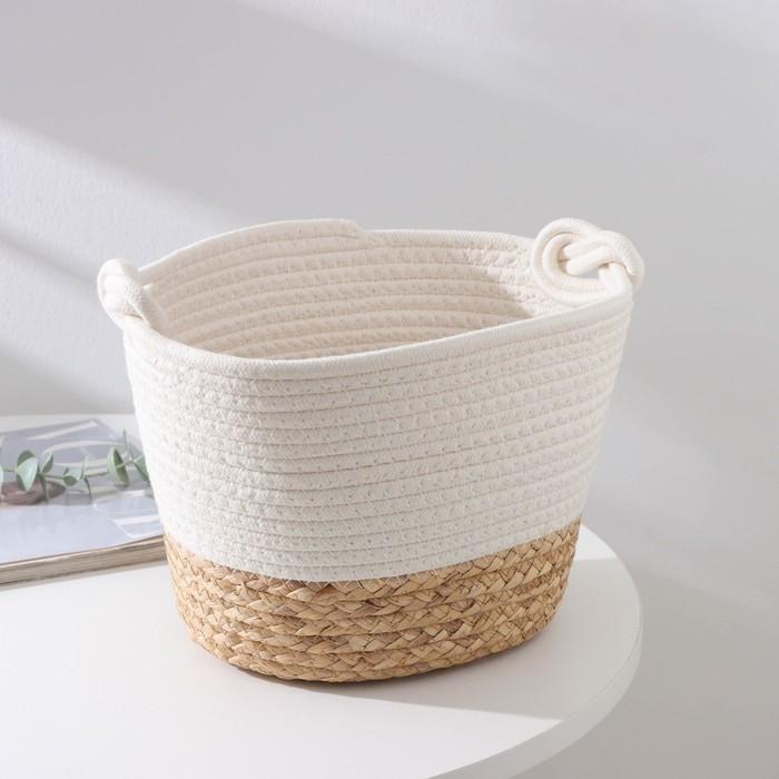 Корзина для хранения Доляна «Ронда», плетёная, 24×20×18 см