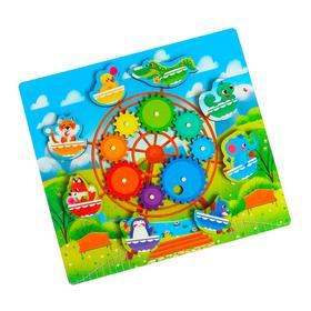 Развивающая игра «Шестерёнки» «Цветная карусель»