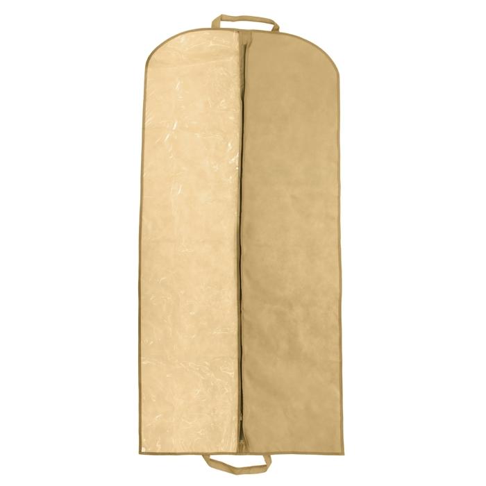 Чехол для одежды спанбонд 60х140 см, цвет бежевый