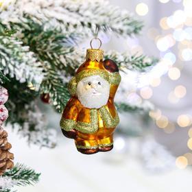 """Ёлочная игрушка """"Дед Мороз нарядный"""", 8 см, стекло"""