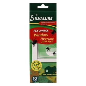 Клеевая ловушка от мух на окна Silvalure Window, 10 шт.