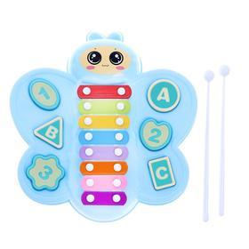 Музыкальная игрушка металлофон «Бабочка», с сортером, цвета МИКС