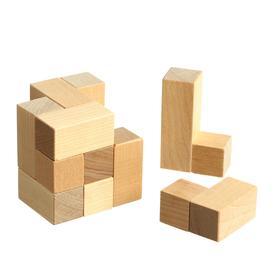 Головоломка «Куб», 7 элементов, размеры: 6 × 6 × 6 см