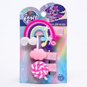 Набор заколок 3шт, розовый, My Little Pony