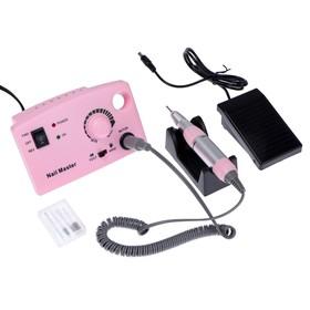 Аппарат для маникюра и педикюра JessNail JD4500, 4 фрезы 30000 об/мин, 35 Вт, розовая