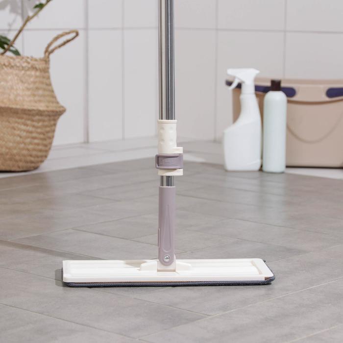 Швабра к набору для мытья пола с вертикальным отжимом, комплектующие к набору, 32×12×80(130) см