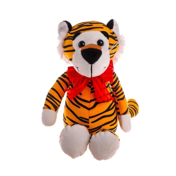 Мягкая игрушка «Тигр с бантом», 22 см