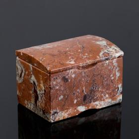 "Ларец ""Сундучок"", 10х7х6,5 см, натуральный камень, креноид"