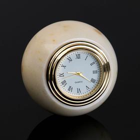 "Часы ""Шар"", 6 см, мрамор"