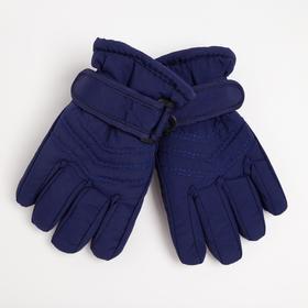 Перчатки детские, цвет синий, размер 14 (3-6 лет)