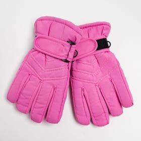 Перчатки детские, цвет розовый, размер 14 (3-6 лет)