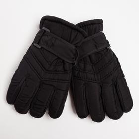 Перчатки детские, цвет чёрный, размер 14 (3-6 лет)