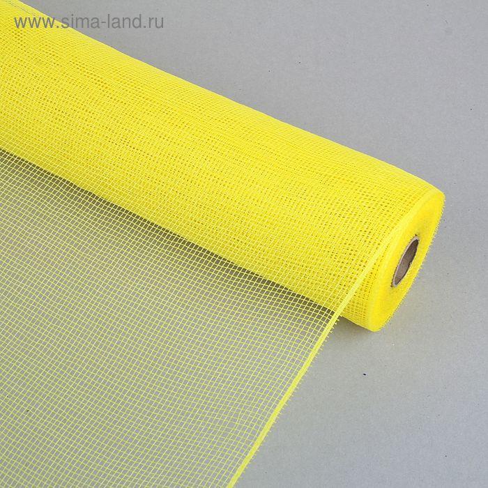 Сетка для цветов простая, цвет лимонный
