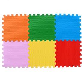 Мягкий пол универсальный «Ассорти» 30х30х1,4, 6элементов