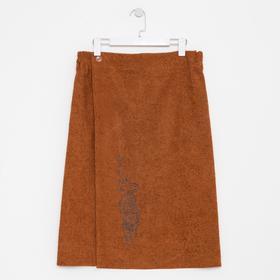 Килт мужской 70х150, цвет коричневый, вышивка «Тигр»