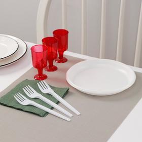 Набор одноразовой посуды Доляна «Давай!», 3 персоны, тарелки десертные, рюмки 100 мл, вилки, салфетки
