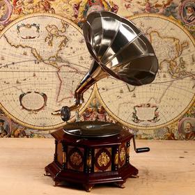 "Граммофон труба латунь ""Оттавио"" (пластинка в комплекте) 41х41х70 см"