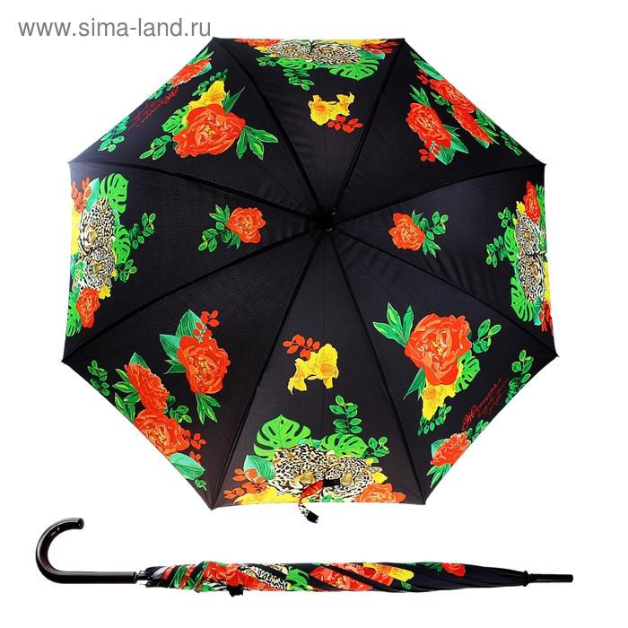 """Зонт-трость складной """"Женщина выдумка, тайна, загадка"""", d=106 см, 8 спиц"""