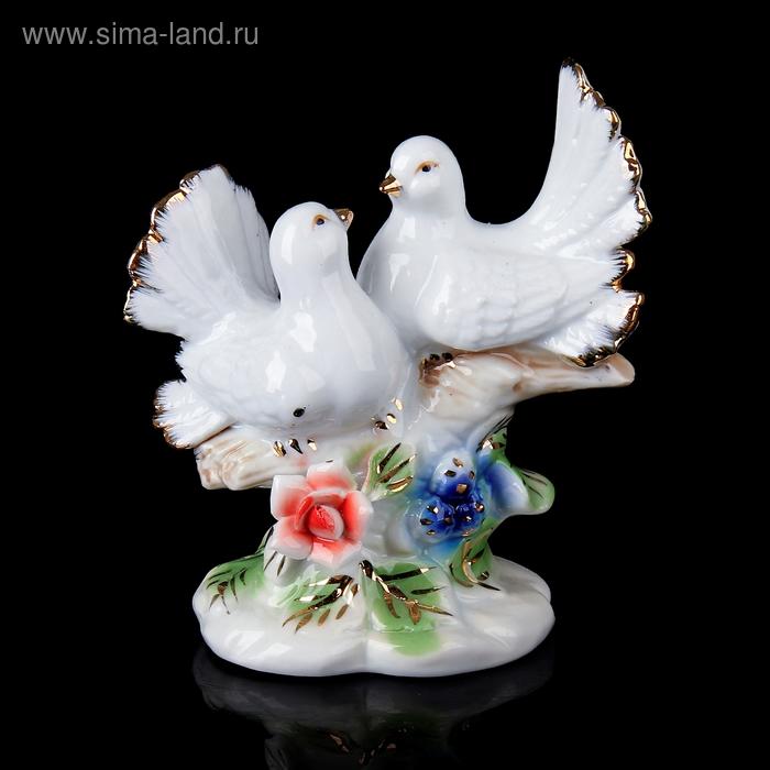 """Сувенир """"Два голубя на цветочной ветке"""""""