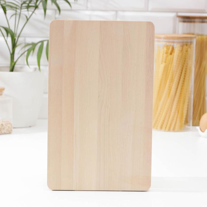 Доска разделочная 32х20х2 см с выемками для пальцев, береза